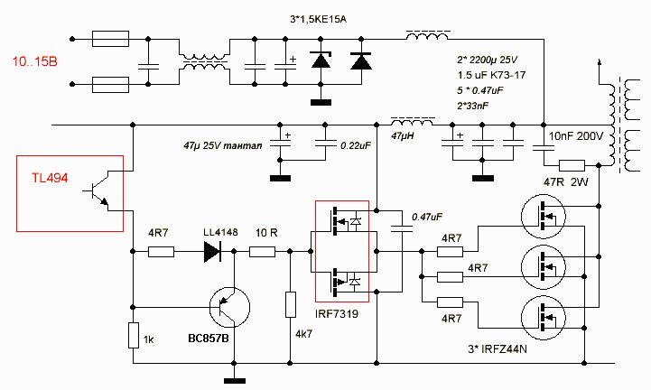 Импульсный блок питания irfp460 схема | Схемы выключателей