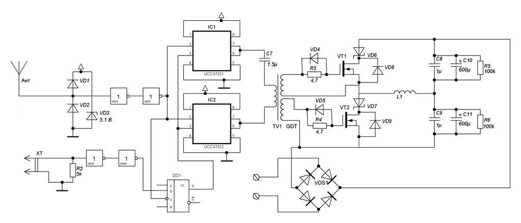 Силовая - IRFP460 + обвязка