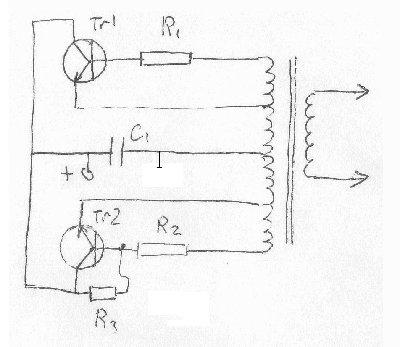а с такой схемы можно будет получить искру 2см? и какую мощность могут выдать те 6 аккумов?
